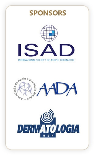 sponsored by the International Society of Atopic Dermatitis (ISAD), the Brazilian Atopic Dermatitis Association (AADA) and the Department of Dermatology of the University of São Paulo Medical School.